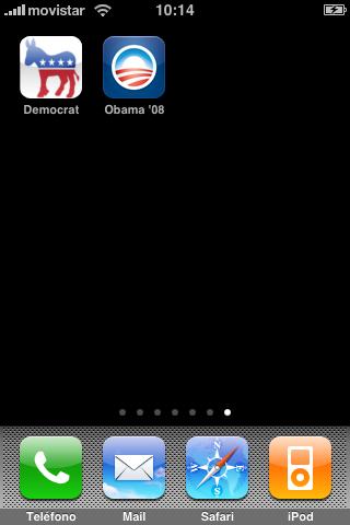 Obama en el iPhone