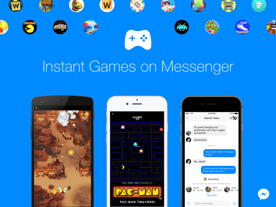 Instant Games de Facebook Messenger 4