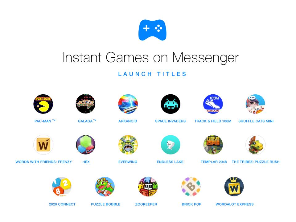 Instant Games de Facebook Messenger 1