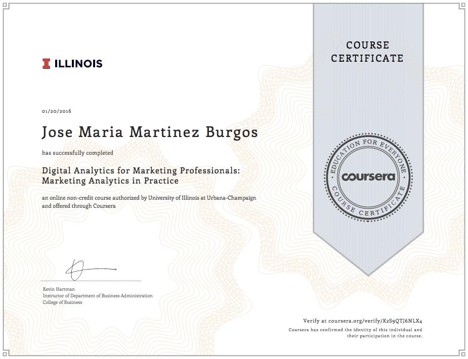 analytics marketing certificacion marketing digital